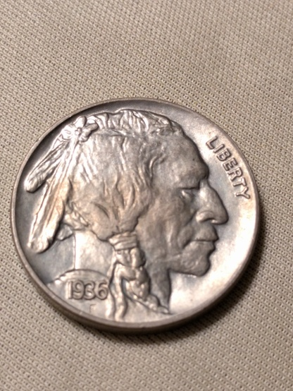 1936 buffalo obverse