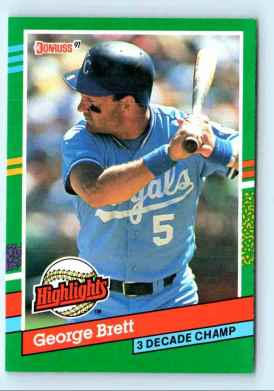 George Brett Donruss 1991 Highlight