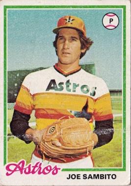 Astros 1978 Topps Joe Sambito F