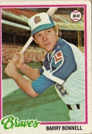 Braves 1978 Topps Barry Bonnell F