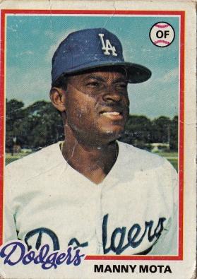 Dodgers 1978 Topps Manny Mota F