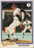 Ed Halicki, Giants, Baseball Card