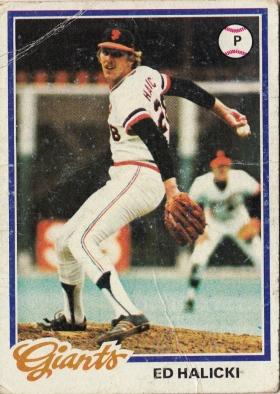 Ed Halicki, Giants, Baseball Card