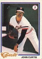 Giants 1978 Topps John Curtis F