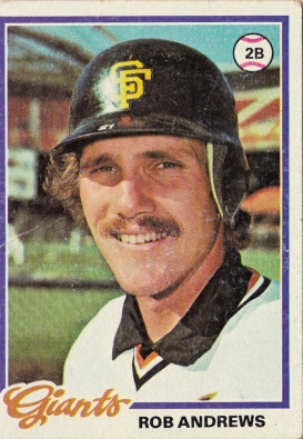 Giants 1978 Topps Rob Andrews F
