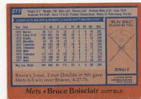 Mets 1978 Topps Bruce Boisclair B