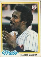 Mets 1978 Topps Elliott Maddox F