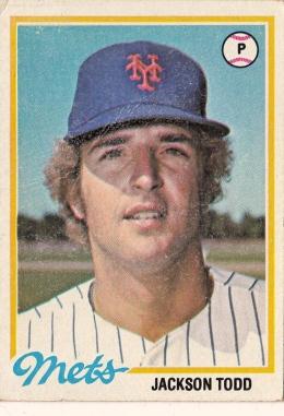 Mets 1978 Topps Jackson Todd F