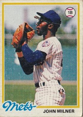 Mets 1978 Topps John Milner F