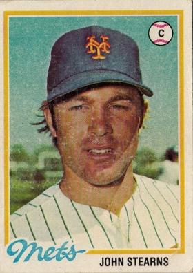 Mets 1978 Topps John Sterns F
