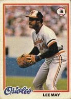 Orioles 1978 Topps Lee May F