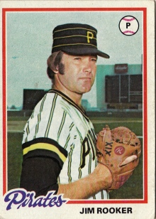 Pirates 1978 Topps Jim Rooker F