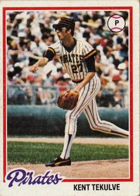 Pirates 1978 Topps Ken Tekulve F