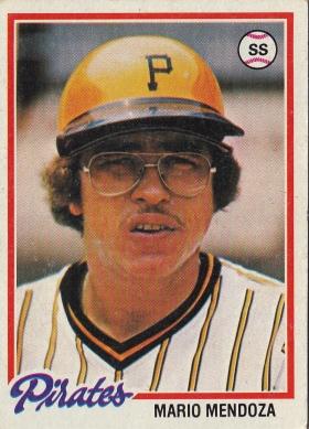 Pirates 1978 Topps Mario Mendoza F