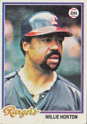 Rangers 1978 Topps Willie Horton F