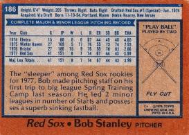 Red Sox 1978 Topps Bob Stanley B