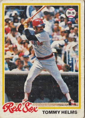 Red Sox 1978 Topps Tommy Helms F