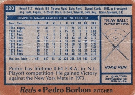 Reds 1978 Topps Pedro Borbon B