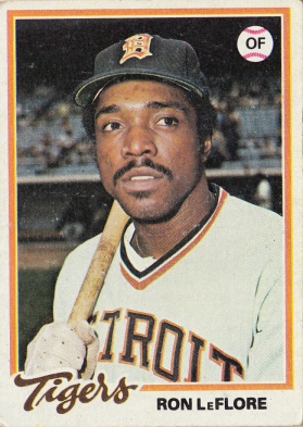 Tigers 1978 Topps Ron LeFlore Fjpg