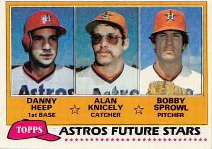 Astros 1981 Topps Future Stars F