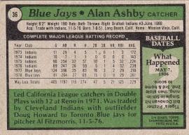 Blue Jayes 1979 Topps Alan Ashby B
