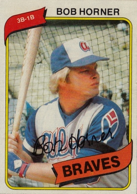 Braves 1980 Topps Bob Horner F