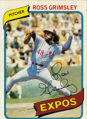 Expos 1980 Topps Ross Grimsley F