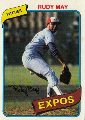 Expos 1980 Topps Rudy May F