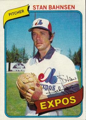Expos 1980 Topps Stan Bahnsen F