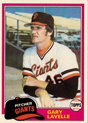 Giants 1981 Topps Gary Lavelle F
