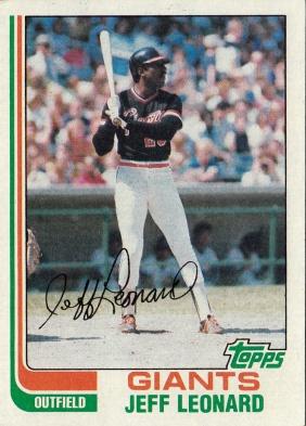 Giants 1982 Topps Jeff Leonard F