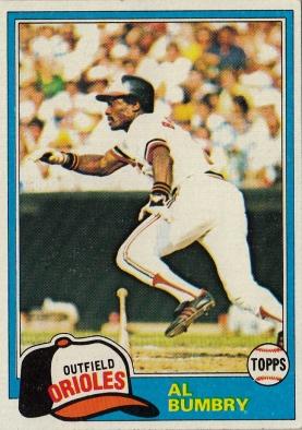 Orioles 1981 Topps Al Bumbry F