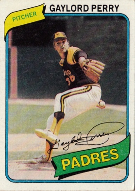 Gaylord Perry, Padres, Baseball Card