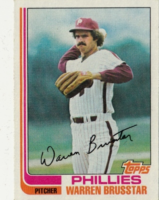 Phillies 1982 Topps Warren Brusstar F
