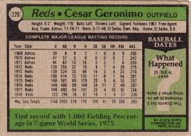Reds 1979 Topps Cesar Geronimo B