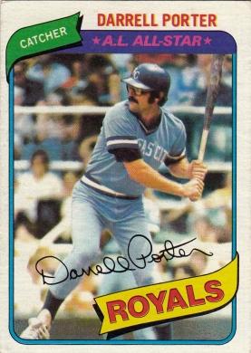 Royals 1980 Topps Darrell Porter AS F