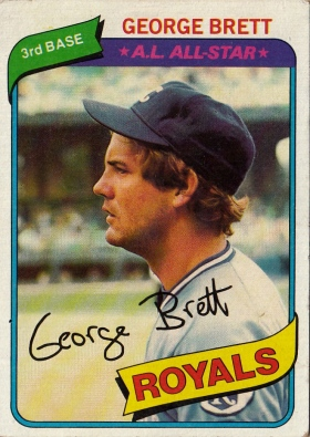 Royals Topps 1980 George Brett F AS