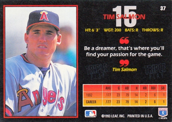 Tim Salmon 1993 Triple Play B RC?