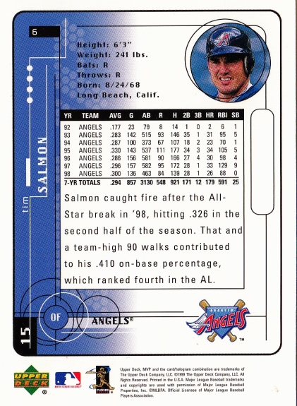 Tim Salmon 1999 Upper Deck B
