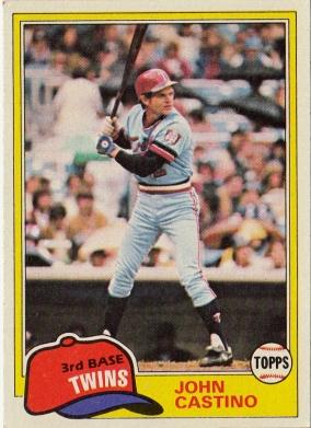 Twins 1981 Topps John Castino F