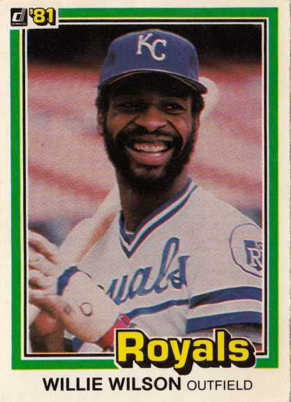 Willie Wilson Donruss 1981 F