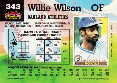 Willie Wilson Stadium Club 1992_0001