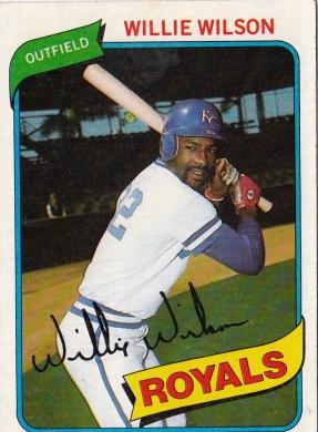 Willie Wilson Topps 1980 F