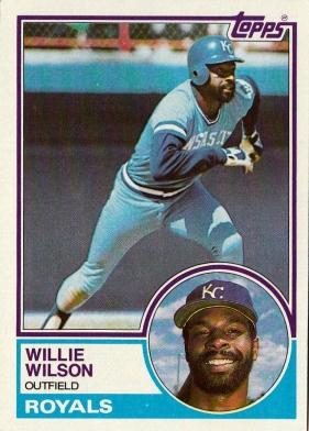 Willie Wilson Topps 1983