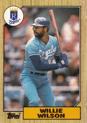 Willie Wilson Topps 1987 F