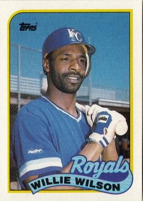 Willie Wilson Topps 1989 F