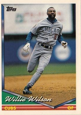 Willie Wilson Topps 1994 F