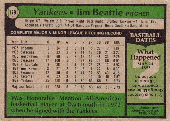 Jim Beattie Rookie Card