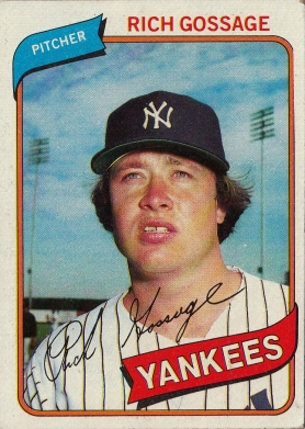 Yankees 1980 Topps Rich Gossage F