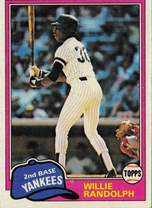 Yankees 1981 Topps Willie Randolph F